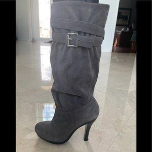 Michael Kors Gray Suede Boots 5 1/2 Like New